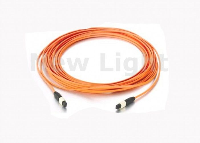 12 core Multimode MPO MTP Cable 50 / 125 5 Meter 3.0mm Mini Round LSZH Fiber Optic Cable