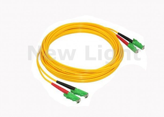 1.5Meter 2.0 Mm Diameter Fiber Optic Jumper Cables E2000 / APC With  PVC Jacket
